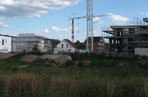 Baustelle in der Heppenheimer Nordstadt