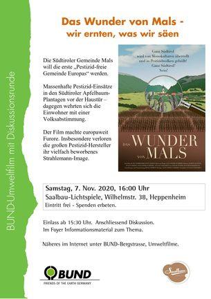 """Filmplakat """"Das Wunder von Mals"""""""