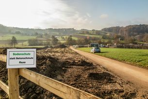 Baustelle der B38 a Ortsumgehung Mörlenbach