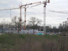 Baustelle in Heppenheim-Nordstadt