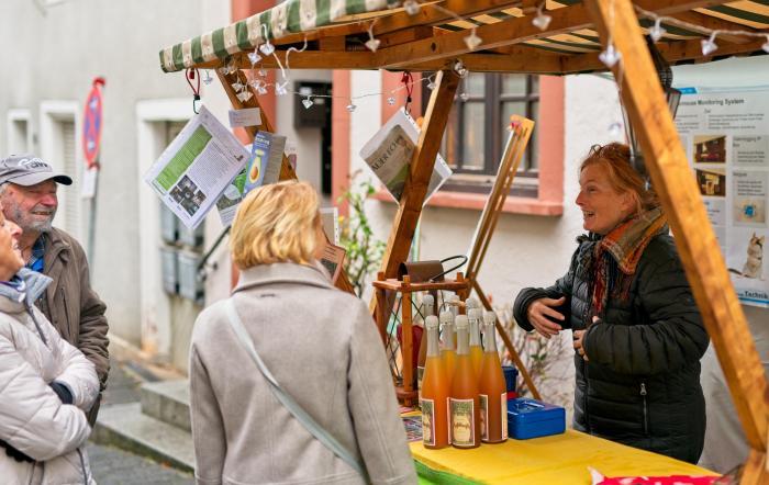 BUND-Stand auf dem Heppenheimer Nikolausmarkt